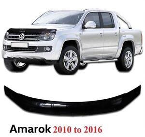 Details about VW AMAROK 2010-16 BONNET GUARD PROTECTOR BUG SHIELD BLACK  **UK SELLER - HS007
