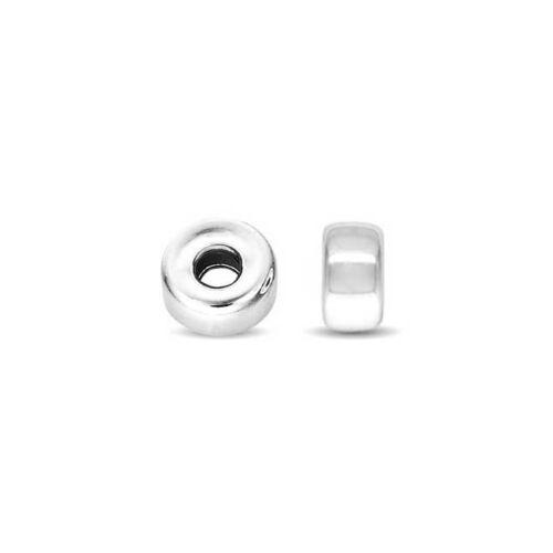 50 Pcs Plain Roundel Bead 925 Sterling Silver