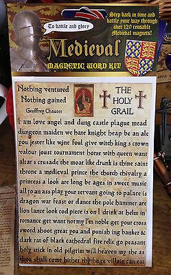 120 Medieval Words Fridge Magnets Set Princess Knight Church Royalty Chaucer bn