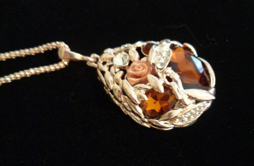 High End Rose Gold Victorian Style Large Pendant