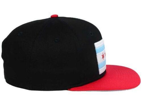 Mytropolis City of Chicago Flag 6 Panel Snapback High Crown Flat Bill Cap Hat