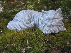 Charming Image Is Loading Cat Statue Long Haired Concrete Cat Concrete Cat
