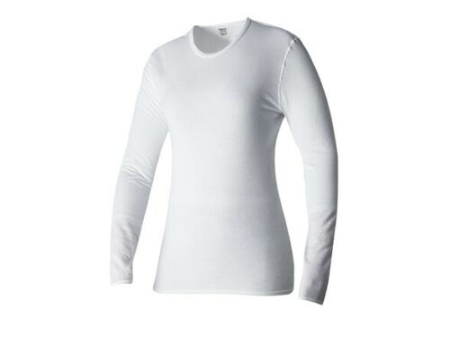 "WOMEN'S HOT CHILLYS ""PEPPER SKINS"" CREW NECK BASELAYER TOP PS3600 WHITE SMALL"