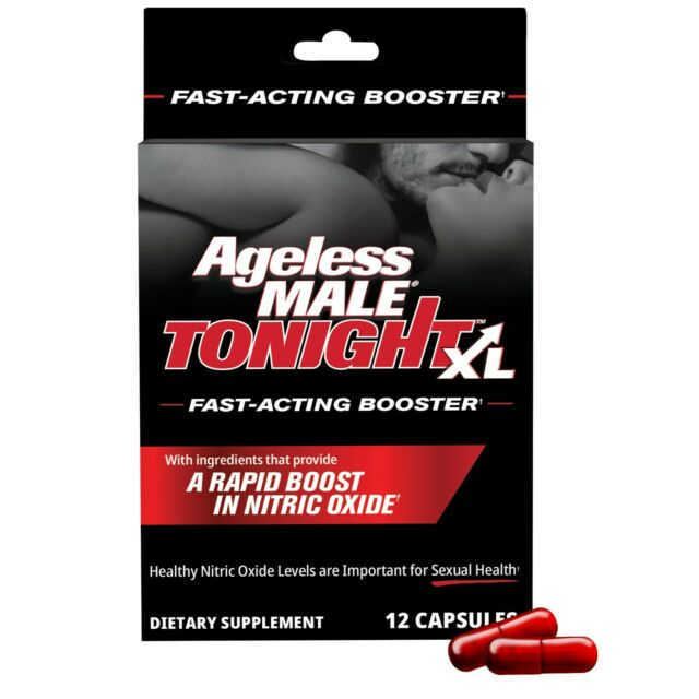 Ageless Male Tonight XL Fast Acting Nitric Oxide Booster, Sexual Health FREE S&H