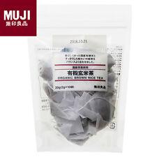 MUJI Organic Brown Rice Tea Bags 10 bags Japanese Green Tea Made in Japan New