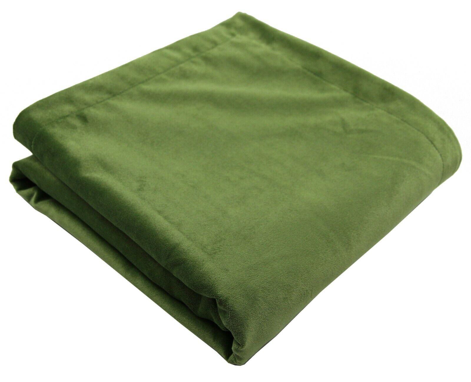 McAlister Textiles MATT Velluto verde Felce Lussuoso Soft LANCIA & Corridori