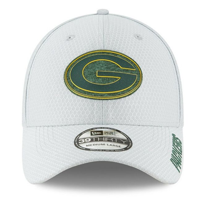 9fee393e5 Green Bay Packers 2018 NFL Mens New Era Gray Training Camp 39THIRTYFlex Hat  L XL