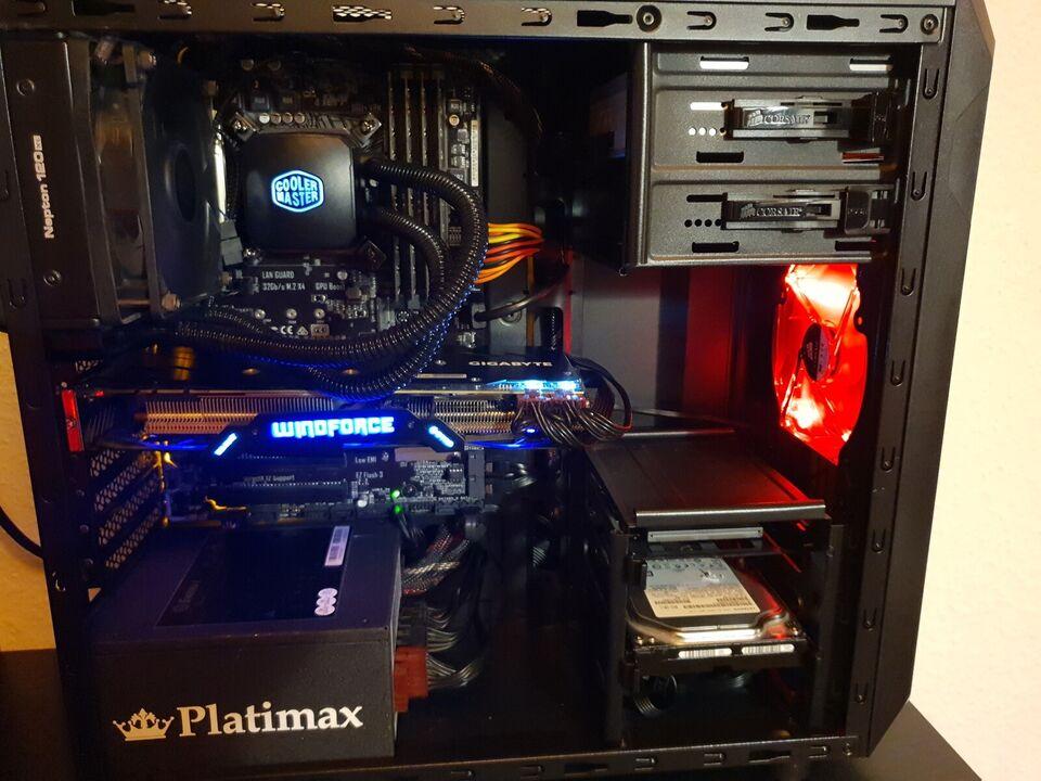 Selvbyg, Gaming PC i5-6600K, 3,5 Ghz