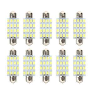 10-PCS-16-LED-Bombilla-Torpeda-para-coche-SMD-3528-42-mm-Blanco-T9B1
