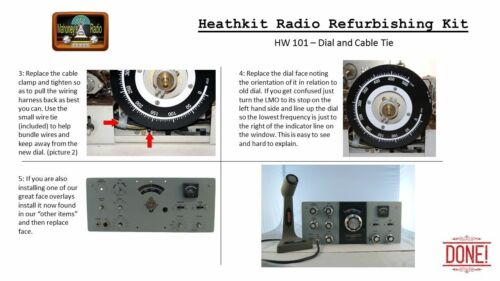 Heathkit HW-100 HW-101 New improved replacement dial kit