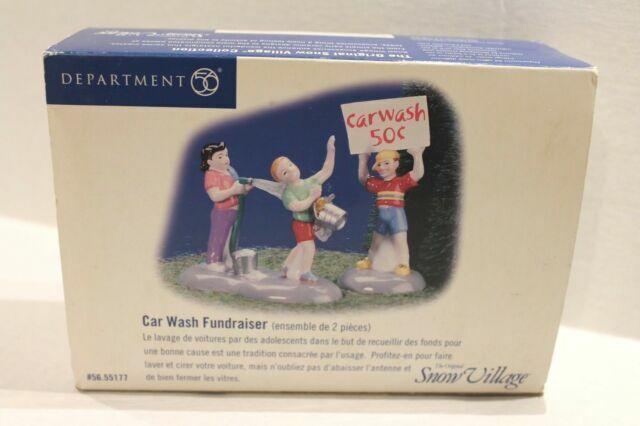 Dept 56 Snow Village Car Wash Fundraiser #55177 Very Good Condition