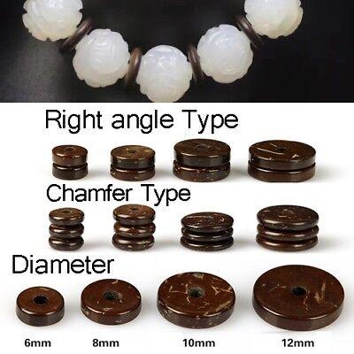 100pcs Bracelet Necklace Connector Beads Spacer Flange Coconut Shell Round Slice