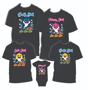 291822326 Baby Shark Birthday Matching T-shirts Party Family Kid Reunion Mom ...