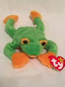 e766a714247 Image is loading TY-Beanie-Baby-SMOOCHY-the-Frog-with-Tags-
