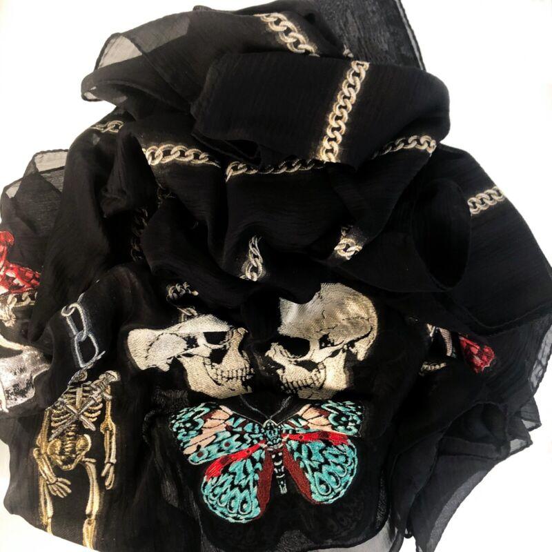 New Alexander Mcqueen Renaissance Skull Silk Scarf Big Clearance Sale