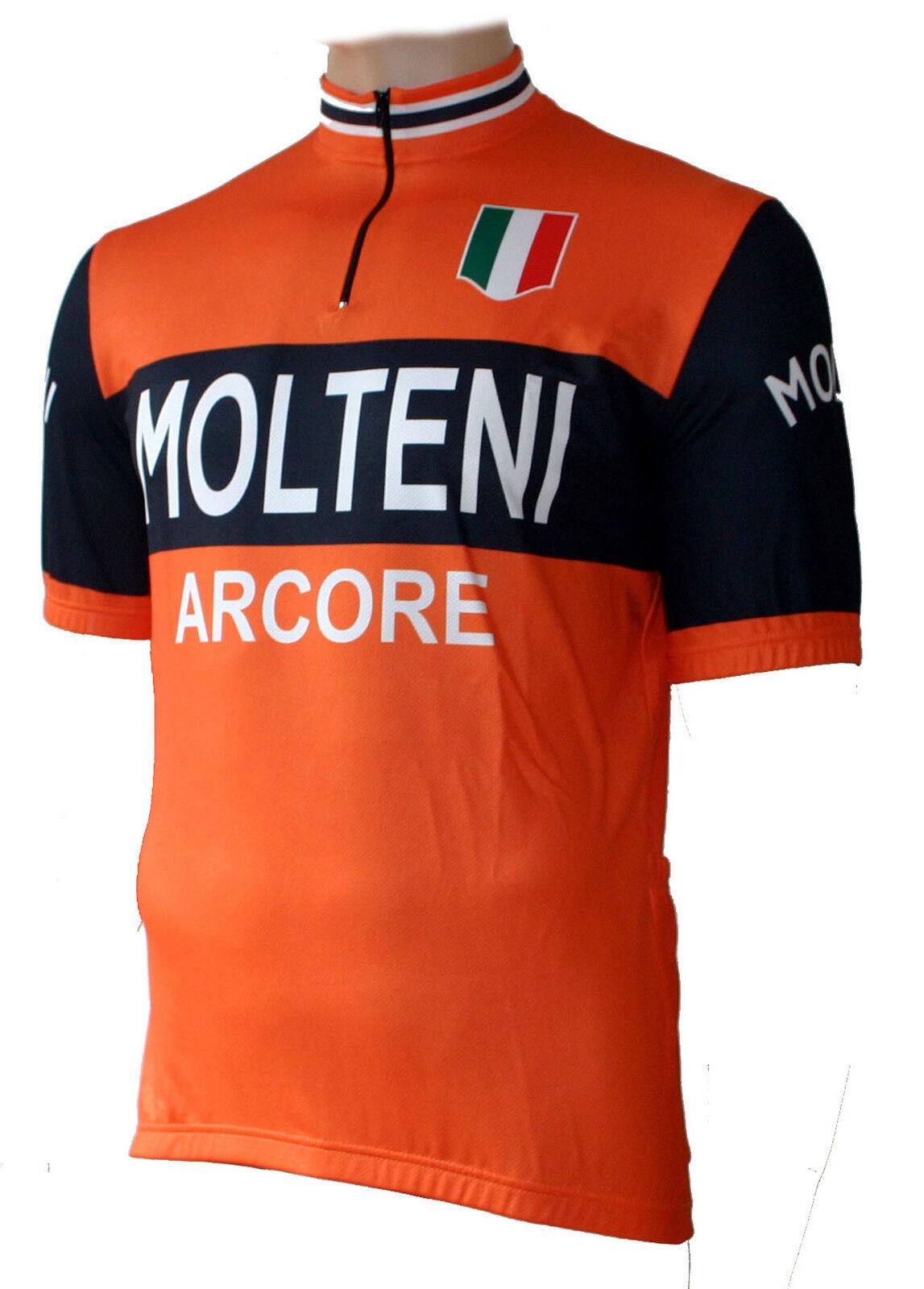 Radtrikot Molteni (auch Arcore Retro Orange kurzarm (auch Molteni Übergrößen bis 6XL) 36224d