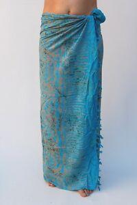 sa332p Swim Nouvelle qualité premium turquoise Sarong Paréo Plage Piscine wrap couverture