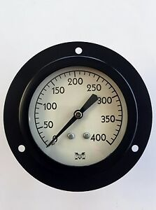 "Marshalltown 23-400 Pressure Gauge, 400 PSI, 2"", Panel Mount, New"