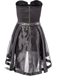 cocktailkleid vokuhila schwarz mehrlagig von queen of darkness gothik dr1204  ebay