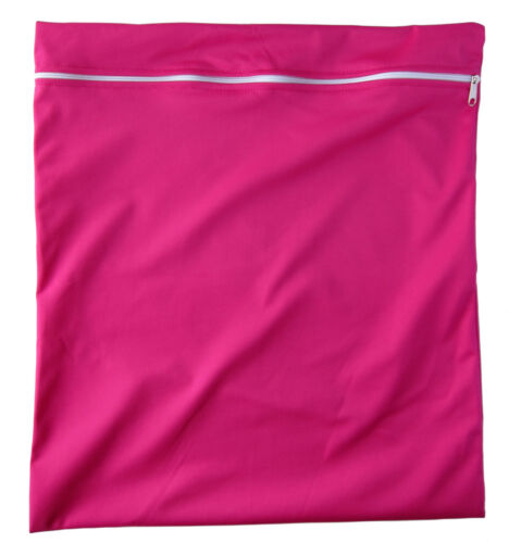 Bright Pink Large waterproof Dry Wet Bag baby cloth nappies wet swimwear towels