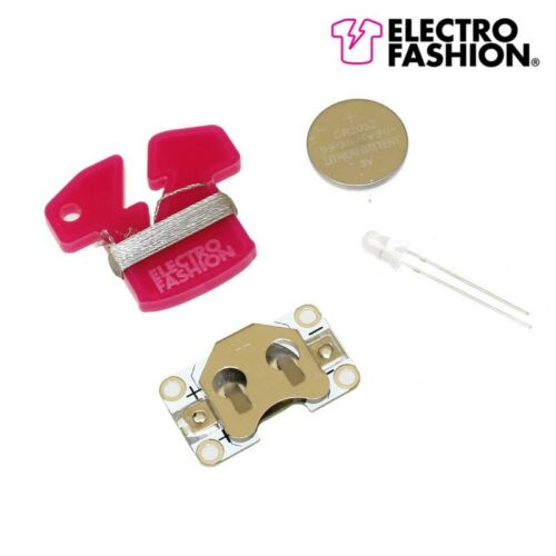 Electro Moda sewable Kit de Luz Cambio de Color e-textiles hilo conductor