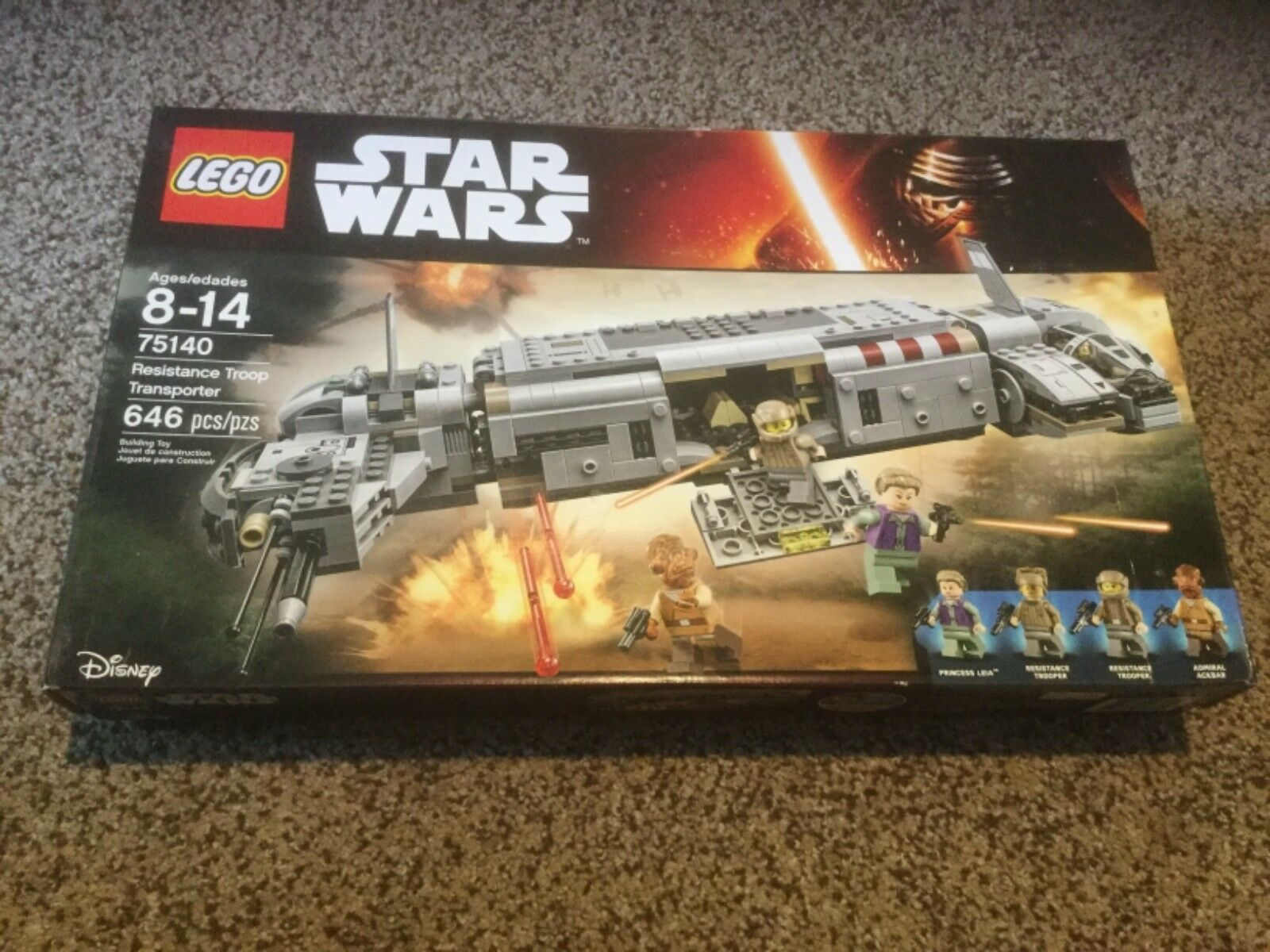 Nuovo in box Lego Star Wars Resistance Troop Transporter 75140