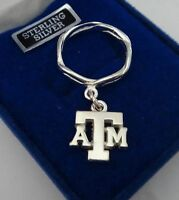 Size 9 Sterling Silver Texas A&m University Atm Aggie Charm Ring