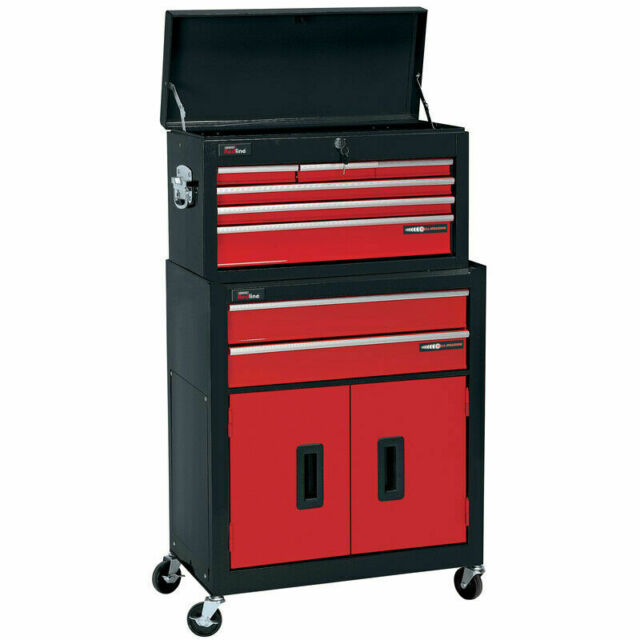 Draper 80927 2-Drawer Roller Cabinet and 6-Drawer Tool Chest