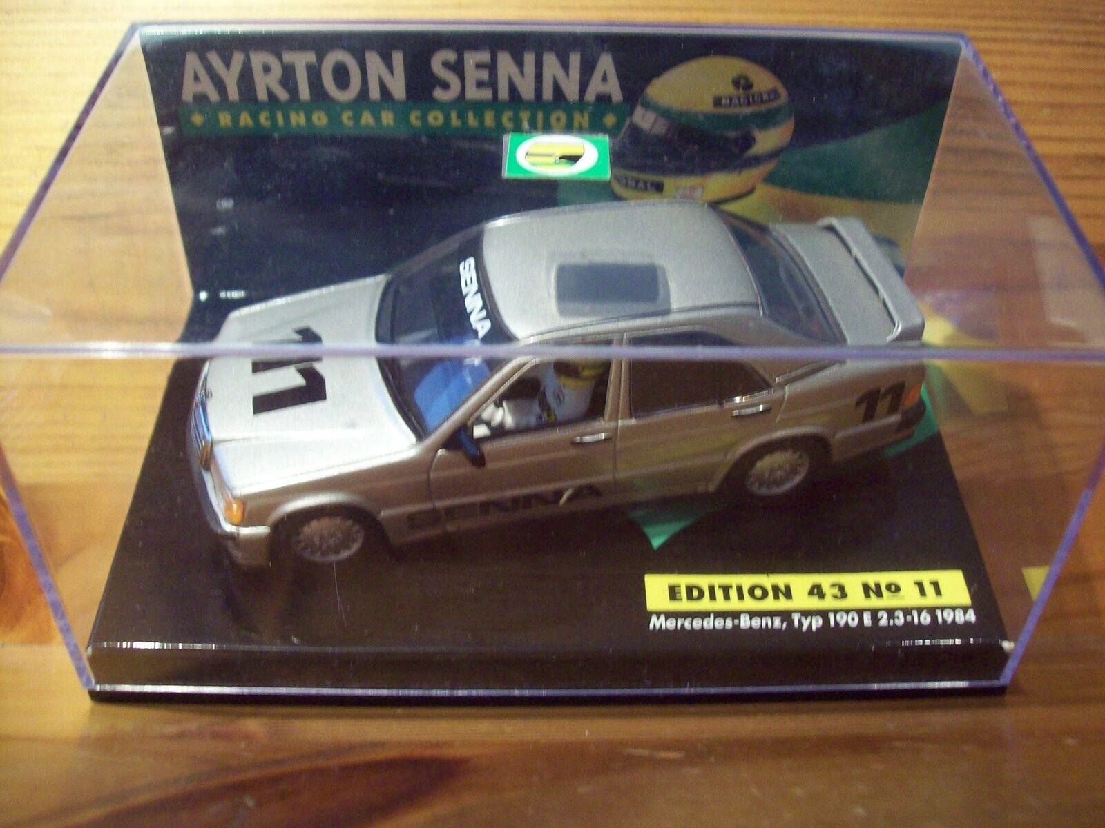 fornire un prodotto di qualità 1 1 1 43 AYRTON SENNA N. 11 Mercedes-Benz TYP 190E 2.3-16 1984 + Custodia  sconto di vendita
