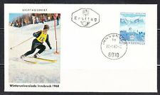 Austria 1968 FDC cover Winteruniversiade Innsbruck 1968 Slalom Winter sports
