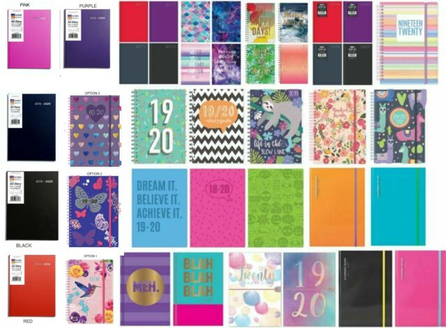 A5 Academic mid year student teacher diary planner 2018-2019 Page a Day or WTV