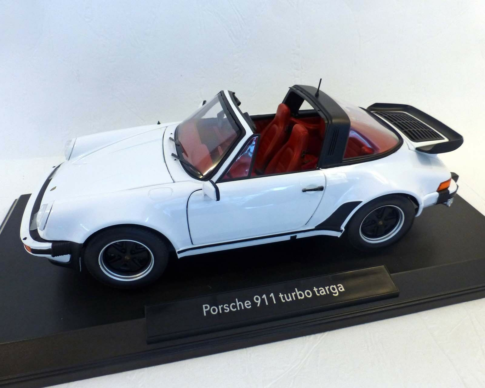 PORSCHE 911 turbo Targa 3,3 - Blanc, 1987, Norev 1 18