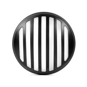 Headlight-Cover-for-Scrambler-Brat-Motorbike-Black-Prison-Grill-Metal-5-75-034-INCH