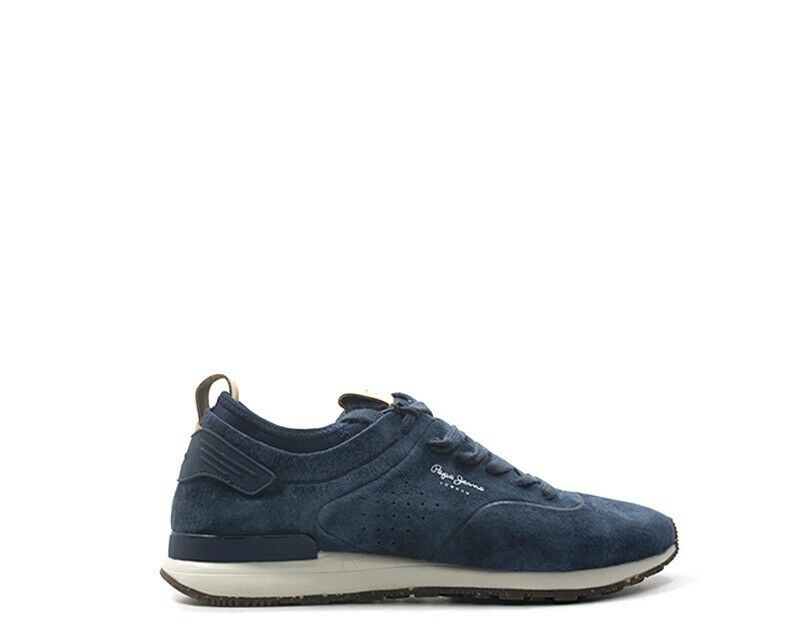 shoes Pepe Jeans Man blue FABRIC, SUEDE PMS30406-595N