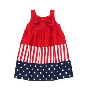 Gymboree NWT Girls 4th of July Red White Blue Spring Summer Dress - 3T 4T 5T