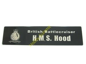 WWII-British-Navy-HMS-HOOD-Metal-NAMEPLATE-Battlecruiser-1-200-DIsplay-Model