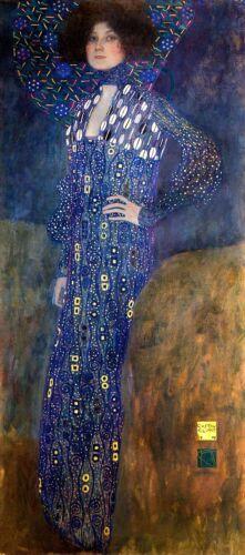 Bildnis Emilie Flöge Jungendstil Secession Frauenbild Gustav Klimt A3 045