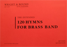 120 Hymns for Brass Band - Solo Cornet Part Book - Large Print A4 Edition Spiral