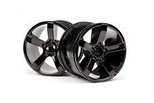 HPI Racing Bullet MT Wheels Black Chrome 101309