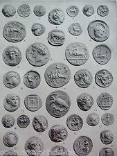 ANTIQUE PRINT 1926 NUMISMATICS GREEK AND ROMAN COINS VINTAGE PHOTO PRINT