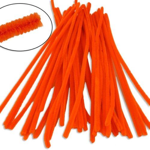 Orange weich Pfeifenreiniger im 50er Pack 30cmx6mm biegsam zum Basteln