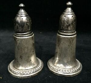 Empire Sterling Weighted 244 Salt And Pepper Shakers