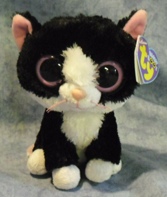Ty 6 Inch Beanie Boos Plush Pepper The Cat Boo Collectable Cuddly ... d24deceb5ad