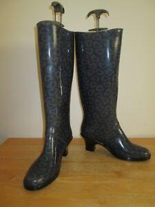 Wellington gomma da Uk da Eu Marc donna Jacobs con pioggia Stivali 6 39 talloni taglia in qEwdnHI