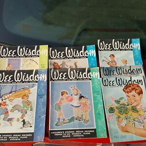 Lot-of-7-Vintage-Wee-Wisdom-Magazine-for-boys-and-girls-all-from-1940-039-s