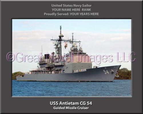 USS Antietam CG 54 Personalized Canvas Ship Photo Print Navy Veteran Gift