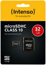 Intenso 32GB Micro SDHC Speicherkarte Class 10 Karte inkl SD SDHC Card Adapter