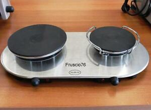 Piano piastra fornello elettrico jolly doppio portatile da for Fornello campeggio elettrico