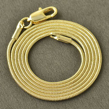 17.7 Inch Yellow Gold Filled Snake lucky Womens vintage Chain Necklace statement