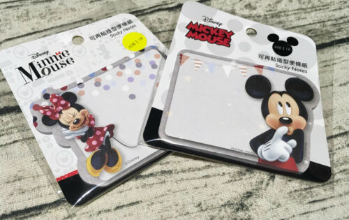 2x Disney Mickey Mouse Sticky Memo Pads Minnie Note Message School Cute Gift New